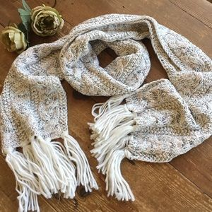 Steve Madden Cable Knit Scarf with Metallic Thread